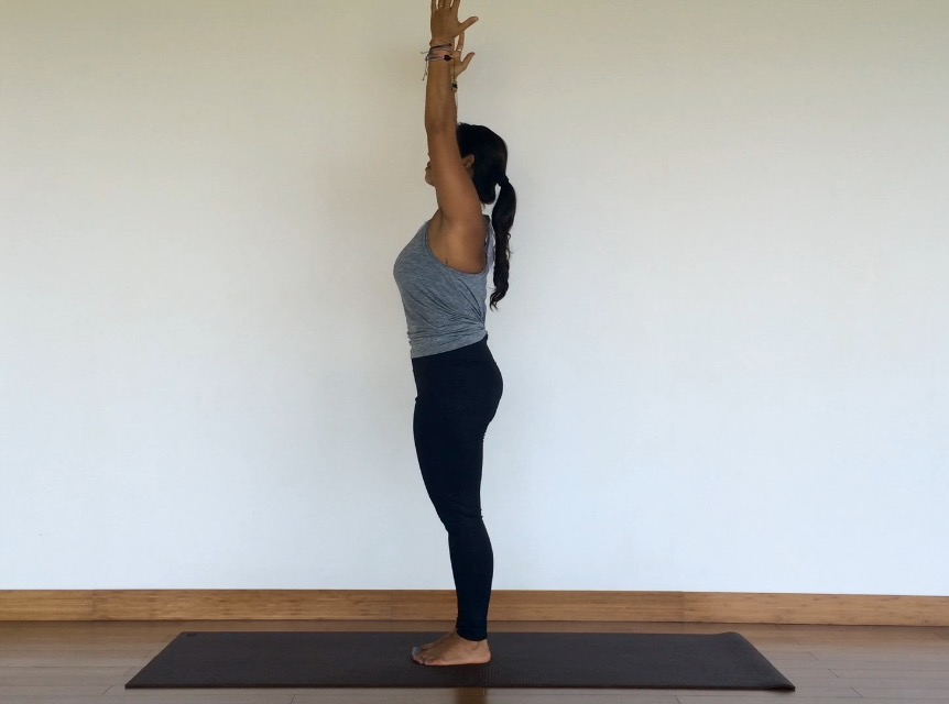 Yoga Tutorial: Urdvha Hastasana, Upward Salute