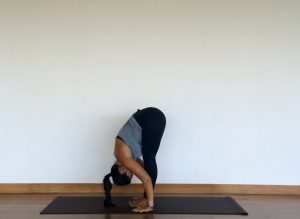 Yoga tutorial: uttanasana, standing forward fold