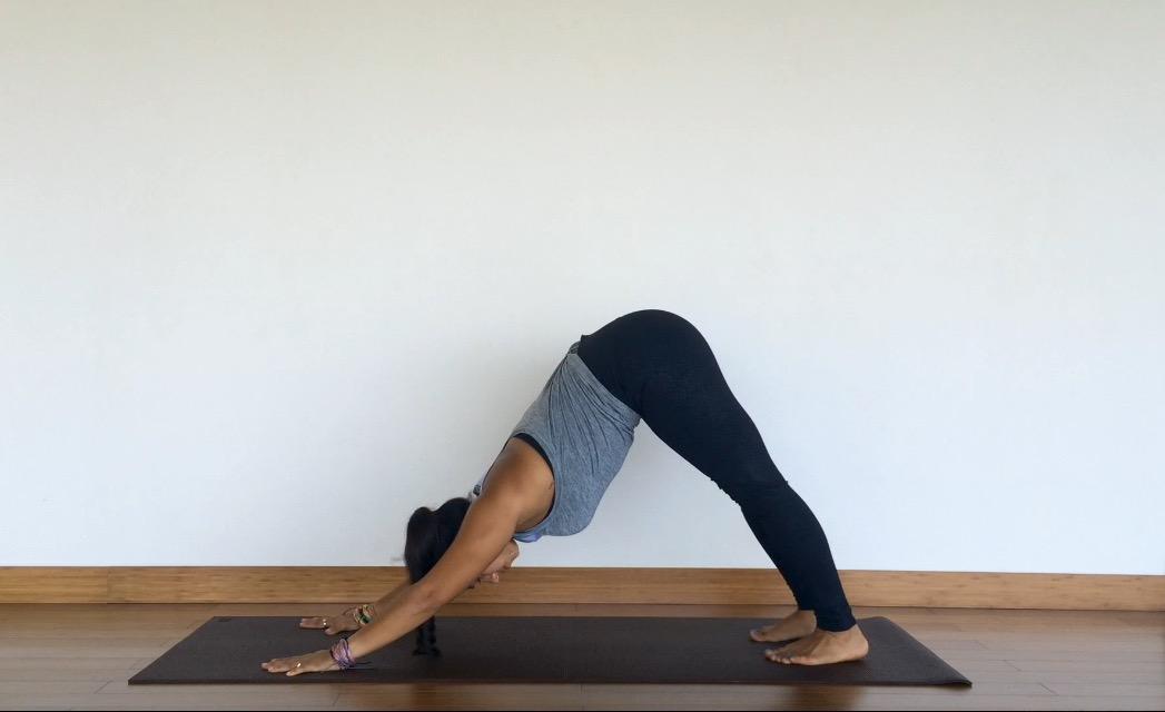 yoga tutorial: downward facing dog