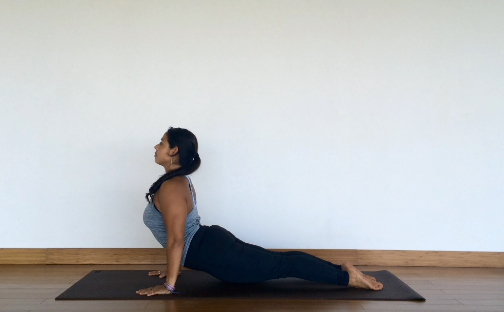 yoga tutorial: upward facing dog