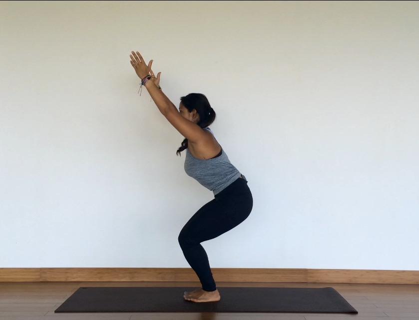 yoga tutorial: chair pose