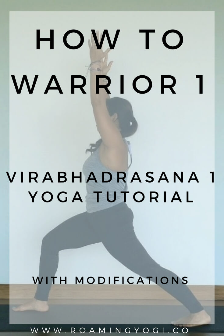 Virabhadrasana 1, or Warrior 1 is a strong standing pose. Click to learn how to practice it with step-by-step instructions or with a video!