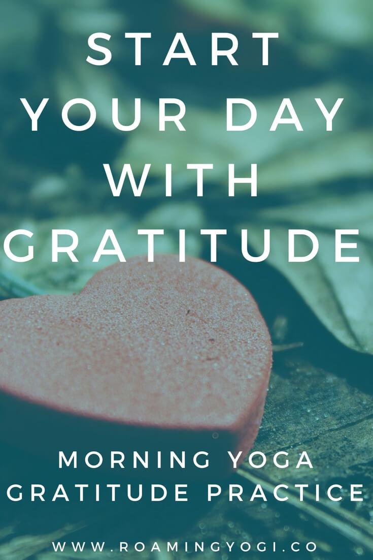 morning yoga gratitude practice