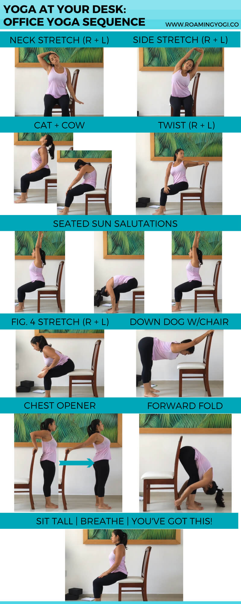 photo regarding Printable Chair Yoga Poses Pdf named Place of work Yoga Crack: 15 Moment Cl in direction of Reset Roaming Yogi