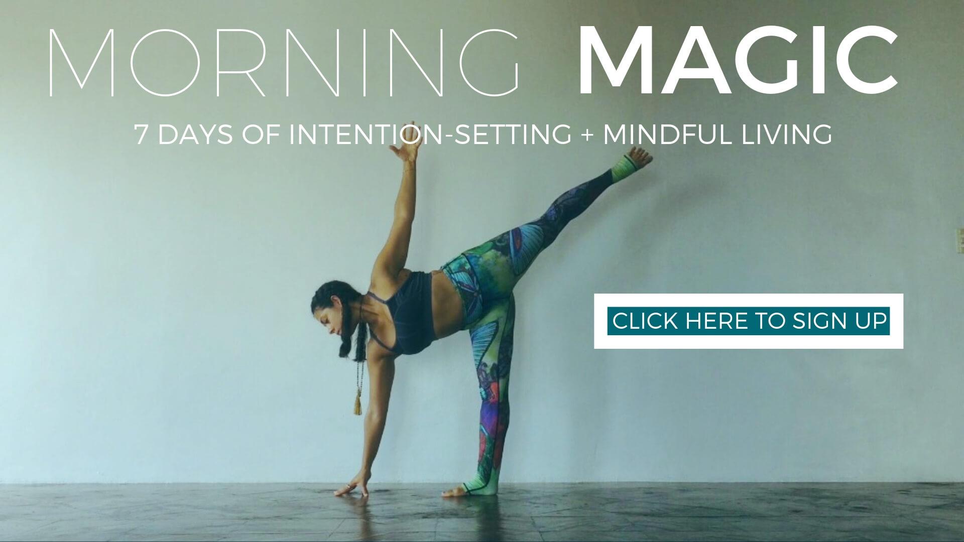 morning yoga, mindfulness, setting intentions, yoga challenge