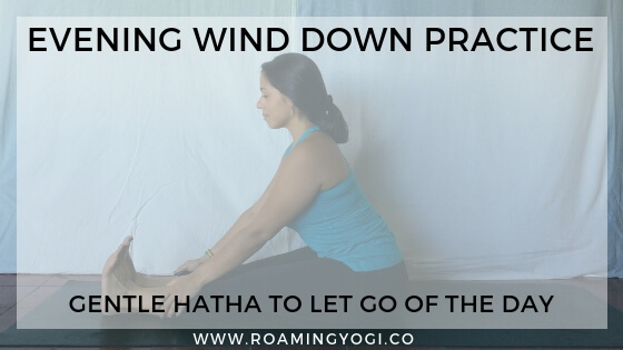 Let go of your day and wind down with an evening yoga practice. This is a gentle hatha yoga class, with an accompanying evening wind down meditation. #yoga #hathayoga #hathayogaclass #eveningrelaxation #relaxation #yogavideo #winddownbeforebed