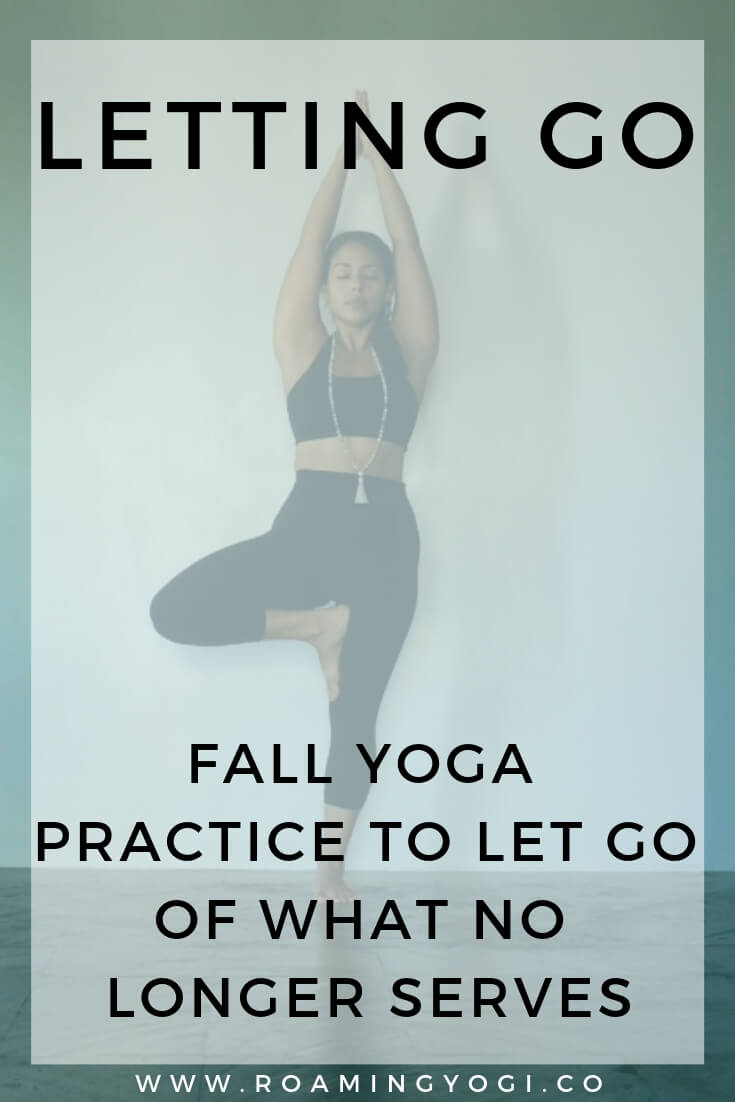 The fall season is a time to let go. As the trees shed their leaves, graciously letting them fall away, we too can practice letting go. This fall yoga practice is the perfect opportunity to do just that! #yoga #yogavideo #fallyoga #letgo #lettinggo