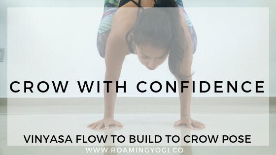 Join me in this bakasana vinyasa practice to build to crow pose with confdence! #yoga #crowpose #bakasana #confidence #armbalance #yogaforstrength #yogaforbeginners #relaxation #yogavideo